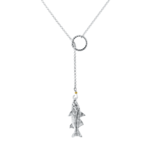 lariat snook fish necklace by nau-t-girl