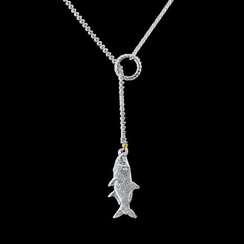 lariat tarpon necklace by nau-t-girl