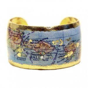 Bali Map Cuff