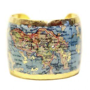 Hong Kong Map Cuff