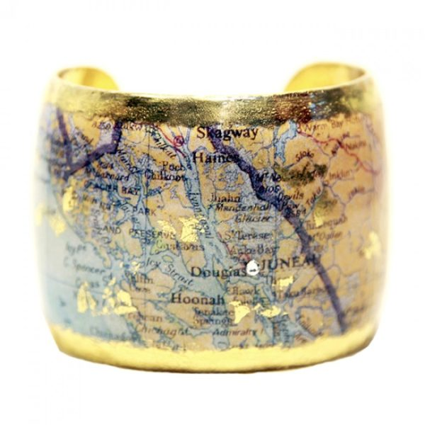 Juneau Map Cuff