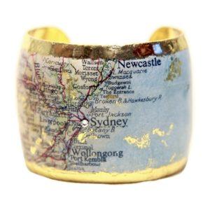 Sydney Map Cuff