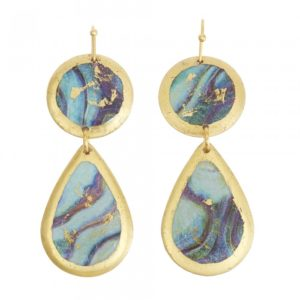 Abalone Mini Teardrop Earrings