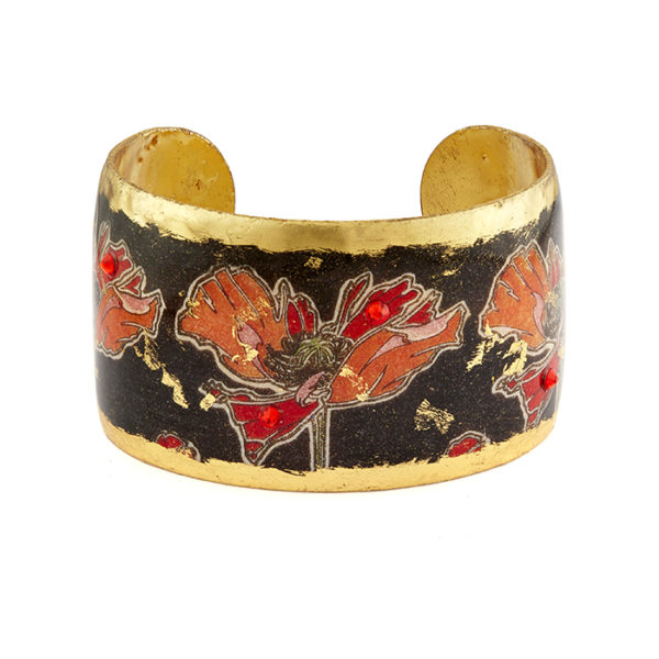 Art Deco Poppies Cuff