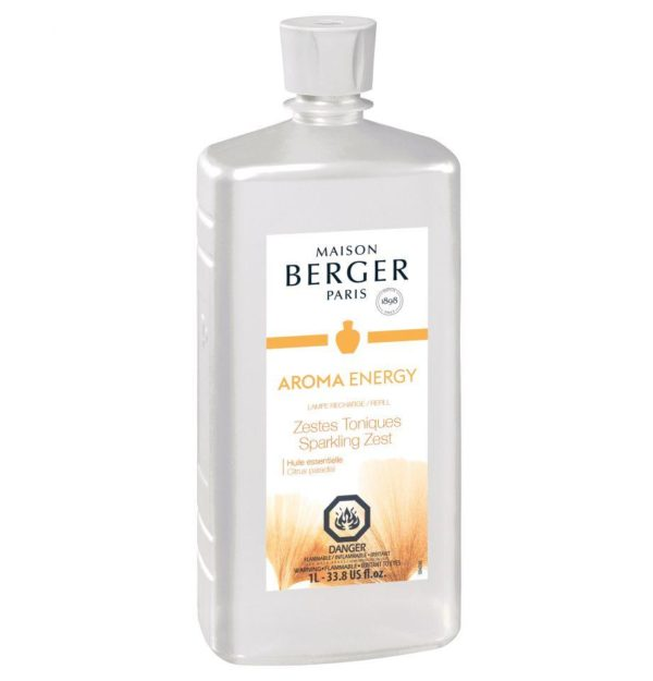 aroma energy SPARKLING ZEST - a fresh and sparkling fragrance, for an invigorating and energizing atmosphere .Essential oils with beneficial virtues GRAPEFRUIT helps to create positivity, imparts enthusiasm and reduces anguish and anxiety. home fragrance air purification system by lampe berger maison berger