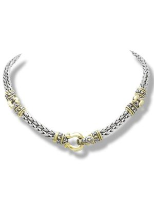 """two tone 17"""" Horseshoe Necklace handcrafted by john medeiros"""