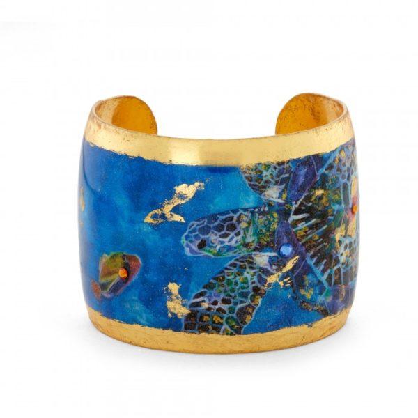 Blue Mosaic Sea Turtles Cuff