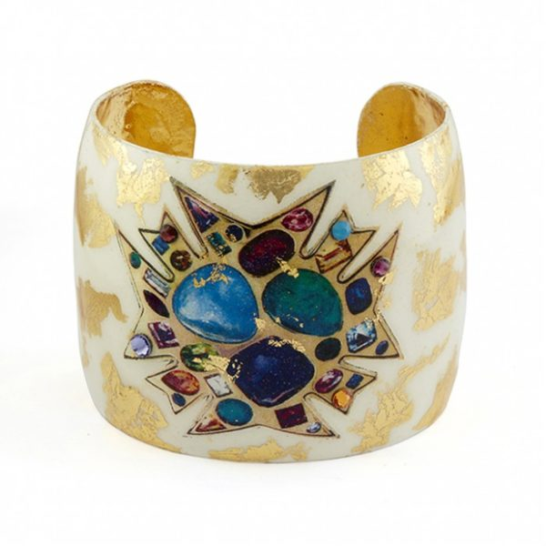 Bejeweled Cream Cuff