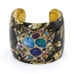 Bejeweled Black Cuff