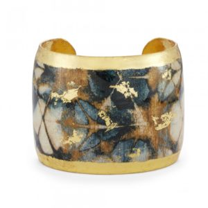 Navy & Gold Batik Cuff
