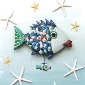 FISHY LIPS PENDULUM CLOCK