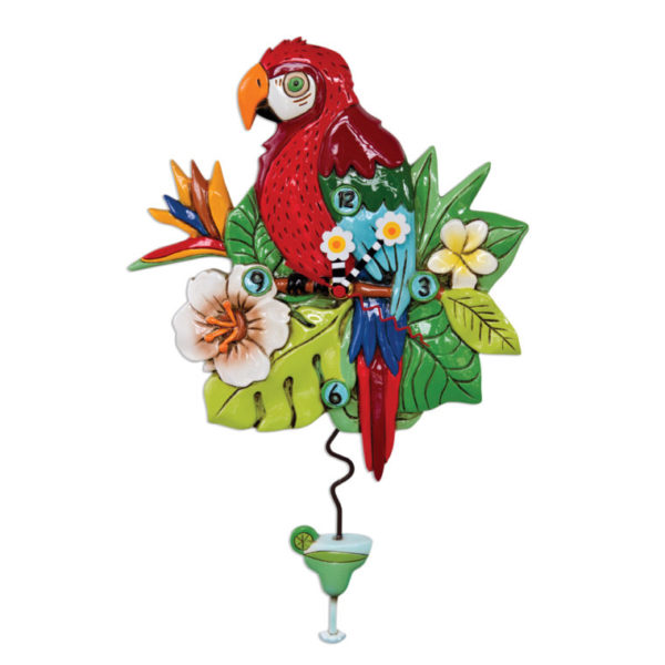 parrot clock with margarita pendulum by allen designs