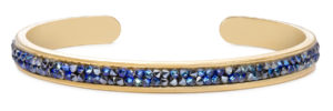 Druzy Channel Cuff in metallic blue handmade in the USA by luca + danni