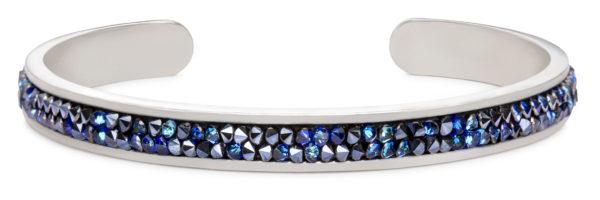 Druzy Channel Cuff in metallic blue handmade in the USA by luca + danni