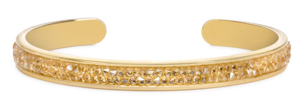 Druzy Channel Cuff in champagne handmade in the USA by luca + danni