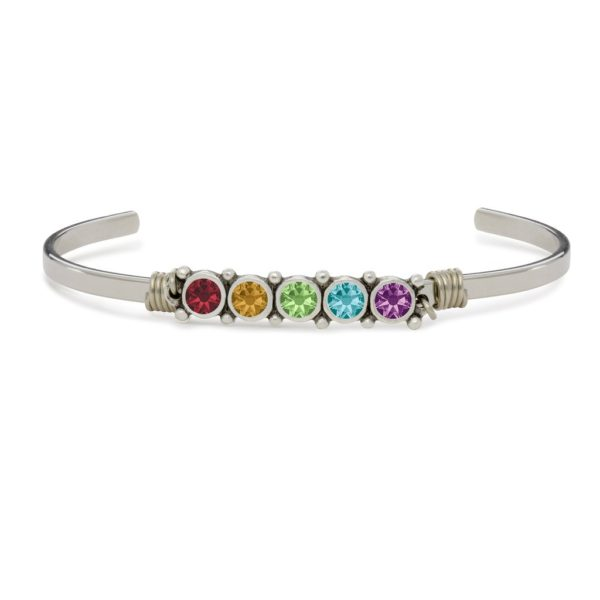 Crystal Cuff Bracelet in Rainbow by luca and danni