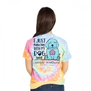 simply southern tee shirt I just want to spend time with my dog tie dye preppy dog tie dye