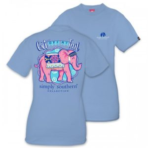 Preppy Get Off my tail elephant tee shirt by simply southern