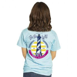 simply southern tee shirt with light house and i see the light bible verse preppy light marine