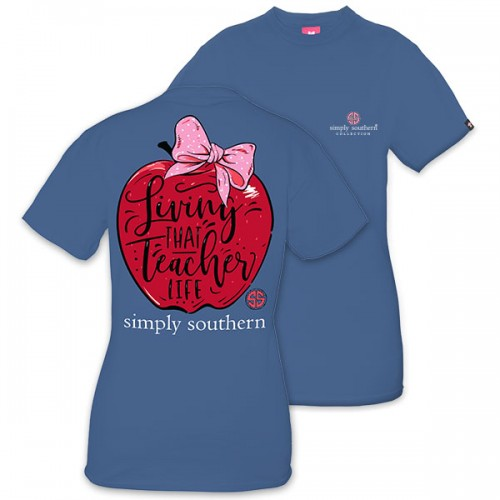 Preppy living that Teacher life tee shirt by simply southern