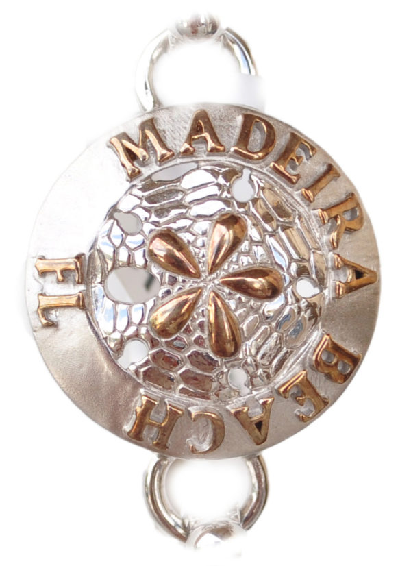Sterling silver and 18kt gold Madeira Beach sand dollar Topper by kovel