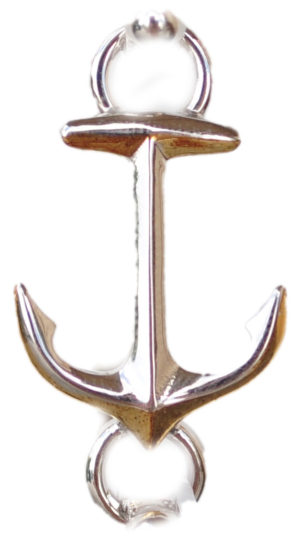 Sterling silver and 18kt gold Anchor Topper by kovel