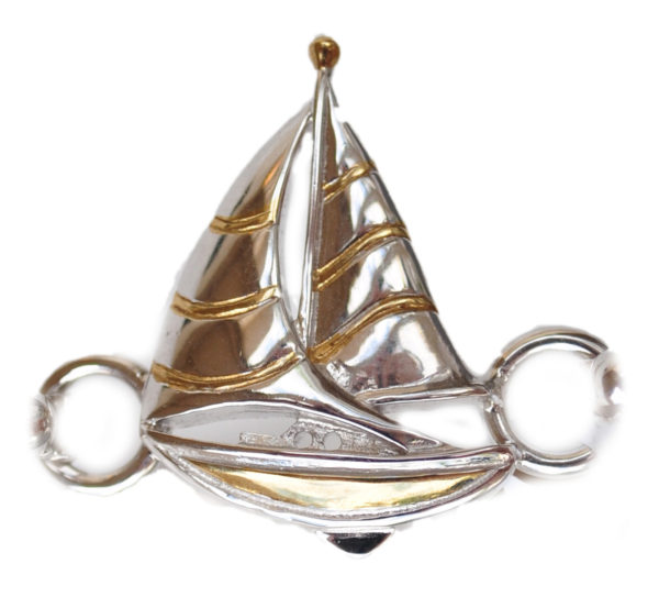 Sterling silver and 18kt gold Sailboat Topper by kovel