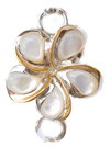 Sterling silver and 18kt gold White Flower Topper by kovel