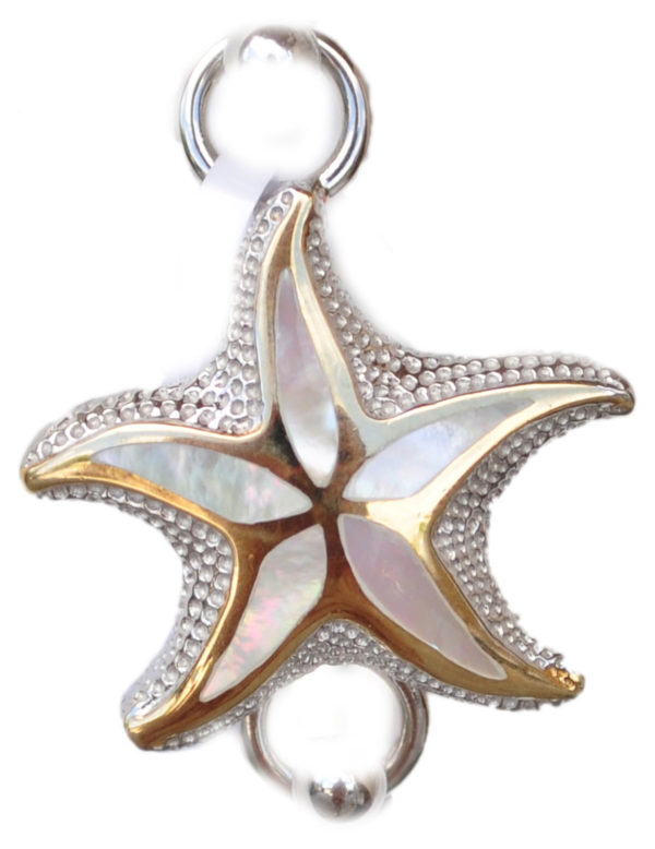 Sterling silver and 18kt gold Floating Starfish Topper by kovel