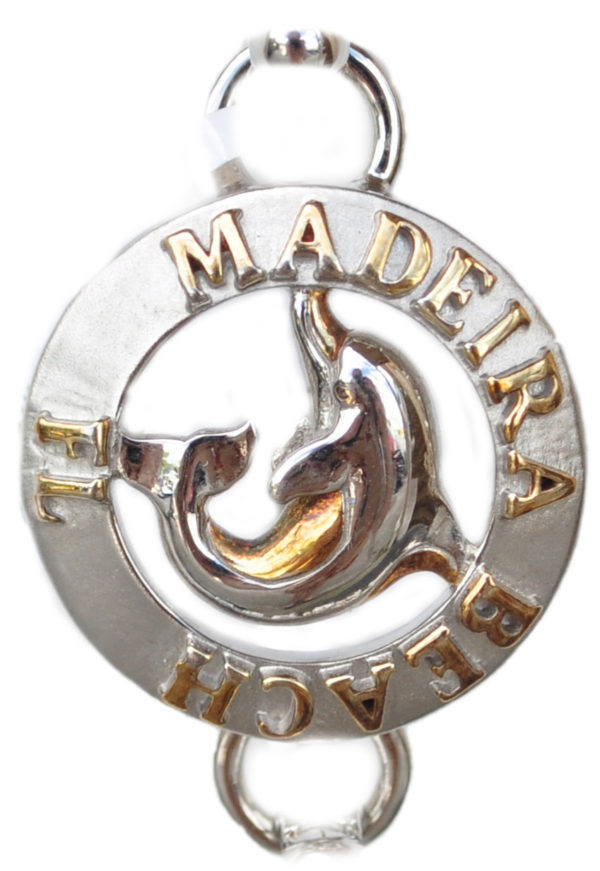Sterling silver and 18kt gold Madeira Beach dolphin Topper by kovel