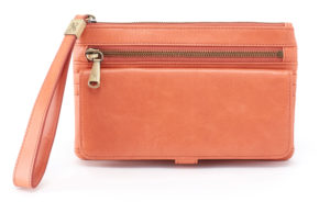 leather Roam dusty rose Clutch by hobo the original
