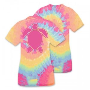 Save The Turtles Washed Logo Tie Dye tee shirt by simply southern