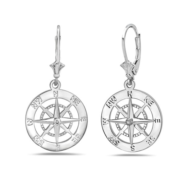 Compass Sterling Silver Earrings