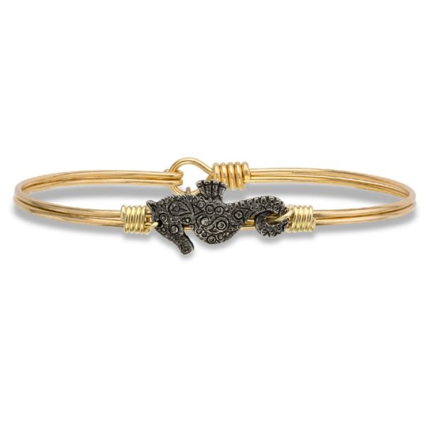 Seahorse Bangle Bracelet handmade in the USA by luca + danni