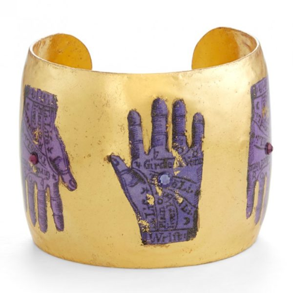 Purple Palm Reading Cuff