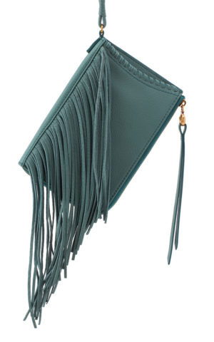 leather Moxie Green Fringe Crossbody by hobo the original