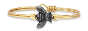 Bee Bangle Bracelet handmade in the USA by luca + danni