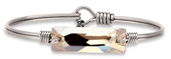 Hudson Bangle Bracelet In Champagne handmade in the USA by luca + danni