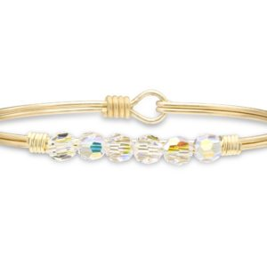 Zoey Bangle Bracelet In Crystal AB handmade in the USA by luca + danni