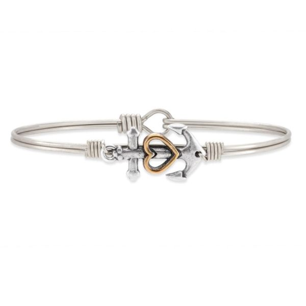 Anchor Bangle Bracelet handmade in the USA by luca + danni