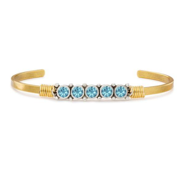 March Birthstone Cuff Bracelet by luca and danni
