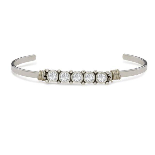 April Birthstone Cuff Bracelet by luca and danni