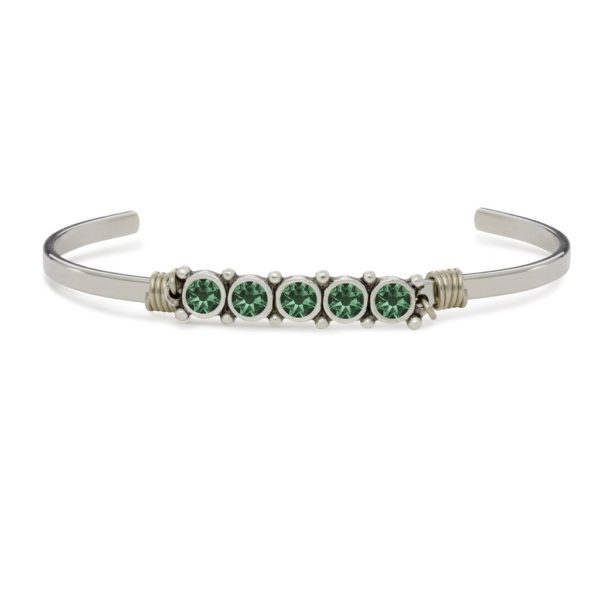 May Birthstone Cuff Bracelet by luca and danni