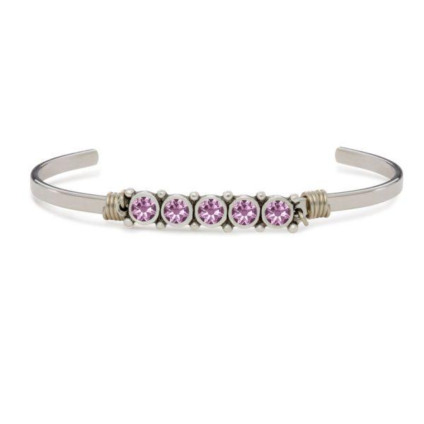 June Birthstone Cuff Bracelet by luca and danni