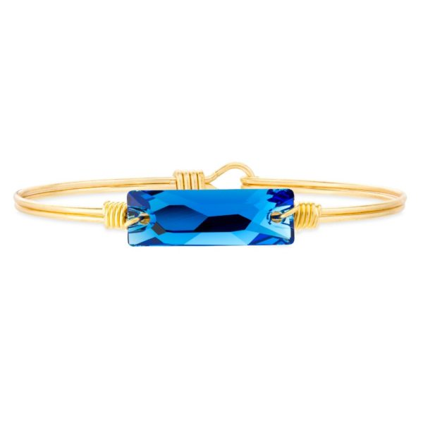 Hudson Bangle Bracelet in Capri Blue handmade in the USA by luca + danni