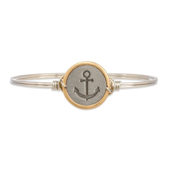 Stay Anchored Bangle Bracelet by luca and danni