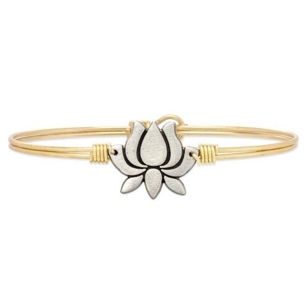 Lotus Flower Bangle Bracelet handmade in the USA by luca + danni