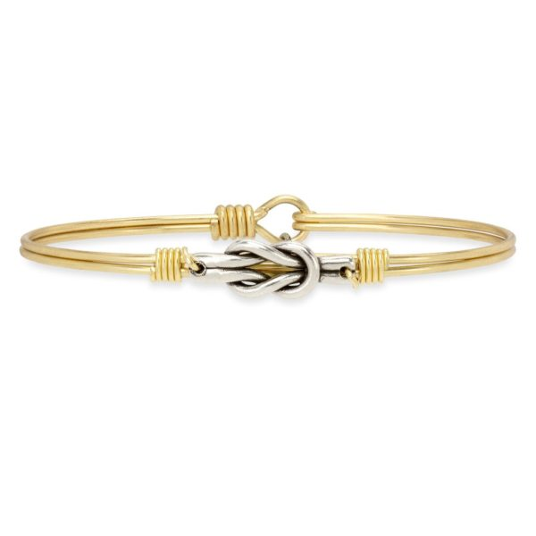 Love Knot Bangle Bracelet handmade in the USA by luca + danni