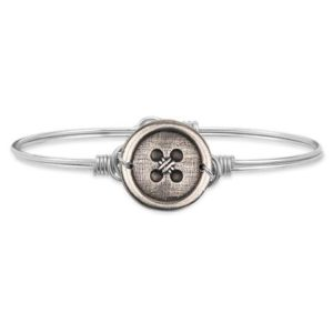 Cute as a Button Bangle Bracelet handcrafted in the USA by luca + danni