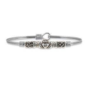 Claddagh Bangle Bracelet handmade in the USA by luca + danni